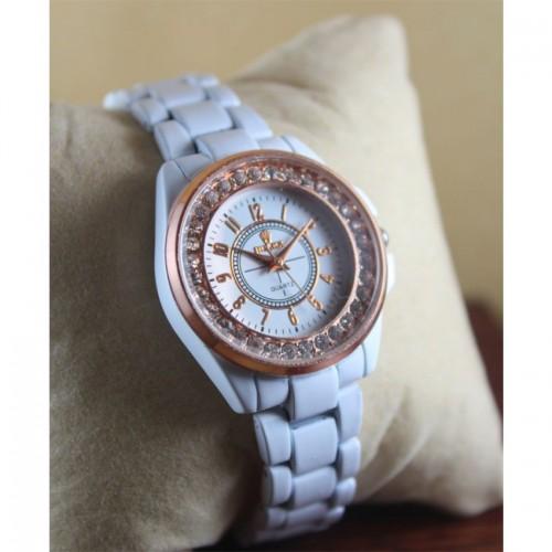 Rolex White Watch for Women